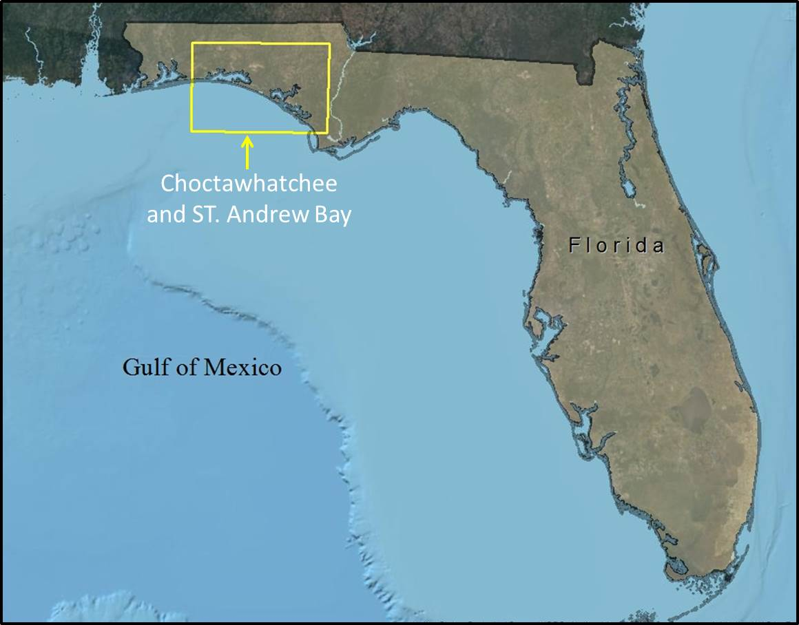 Map Of Florida Bays.Florida Sea Level Rise